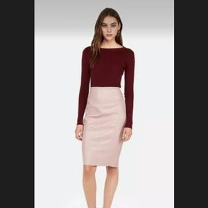 New With Tag Express Faux Leather Blush Skirt 4 S